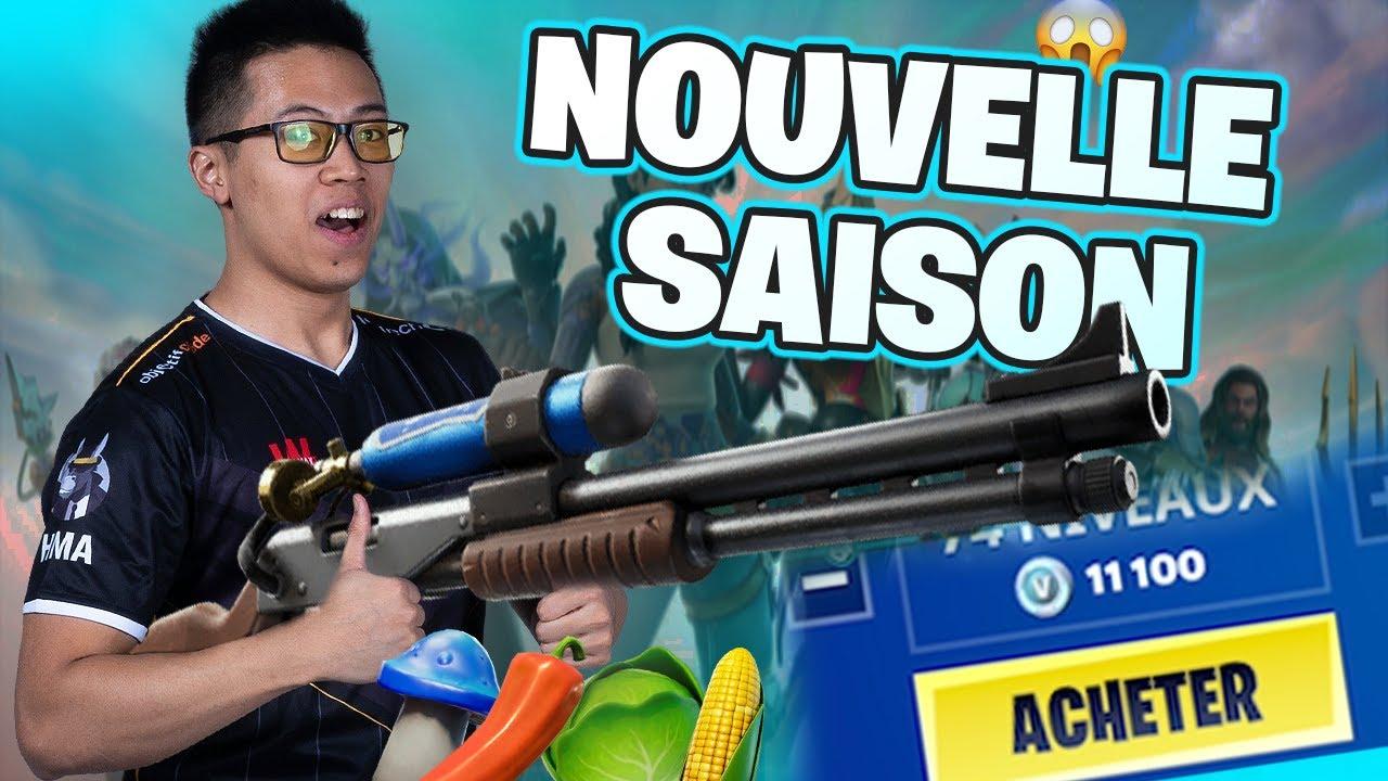 JE REJOUE À FORTNITE POUR LA NOUVELLE SAISON !! NOUVELLE CARTE - BATTLE PASS ET NOUVELLES ARMES !!