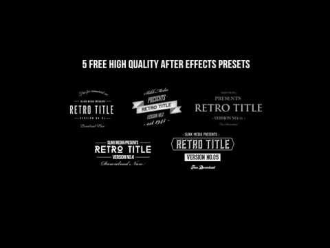retro titles pack free after effects templates