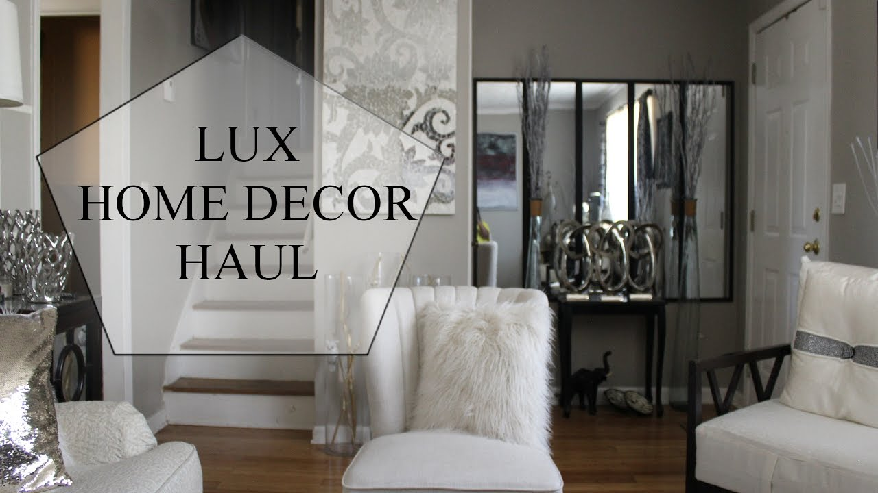 lux decor haul home goods marshals ross youtube. Black Bedroom Furniture Sets. Home Design Ideas