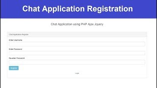 Registration - Chat Application using PHP Ajax Jquery - 14