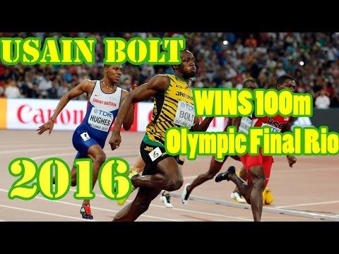 Usain Bolt WINS 100m Olympic Final Rio 2016. 9.80s | Победный забег Усеина Болта в финале РИО 2016