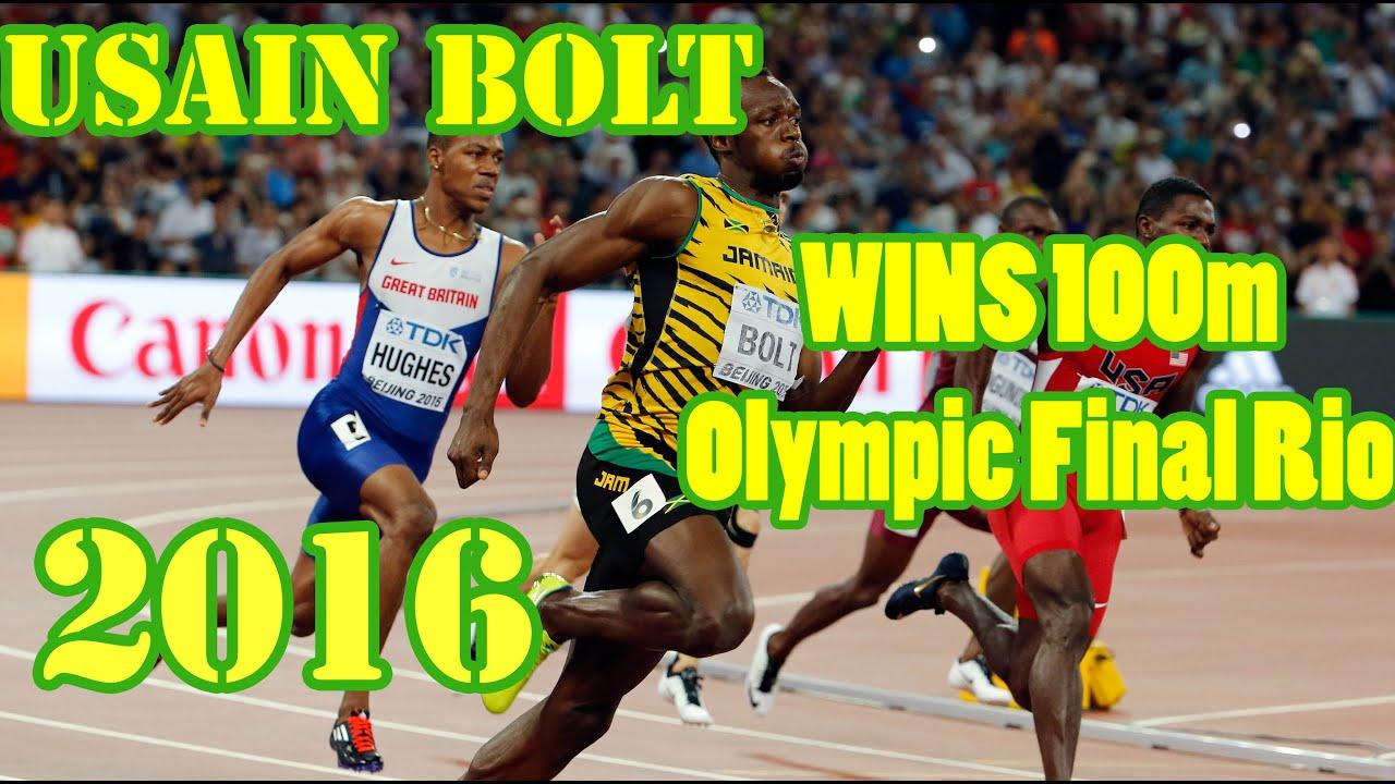 Usain Bolt WINS 100m Olympic Final Rio 2016. 9.80s ...