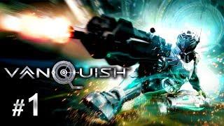 Vanquish PC Gameplay Walkthrough Part 1 - Knee Slidin' Bullet-Time Awesomeness