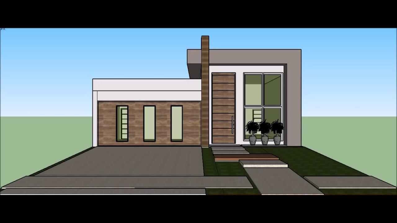 Excepcional Projeto Planta Construção Casa Térrea com 03 Suites e Área de  IJ65