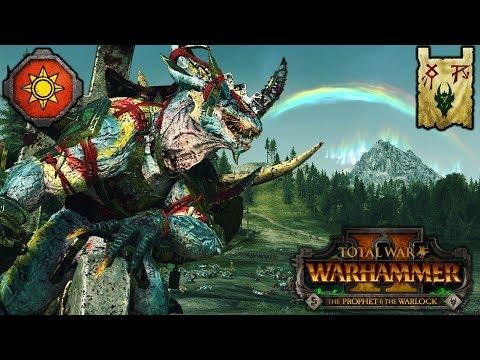 T-REX TWINS, DOOMWHEELS, And DINOSAURS - Lizardmen Vs. Skaven - Total War Warhammer 2