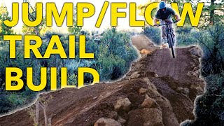 Building a JUMP/FLOW Trail in their BACKYARD! | MTB Trail Building in California