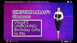VLOG # 3 : UNBOXING the Birthday Gifts