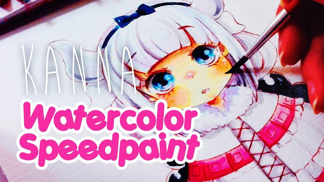 【Speedpaint】 Anime Watercolor - Kanna