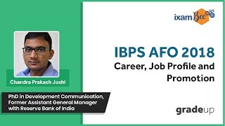 Master Series for IBPS AFO 2018 Exam | Career, Job Profile and Promotion - Class 8