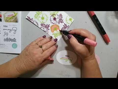 FB Live Casing the Celebrate you Cards from the Catty