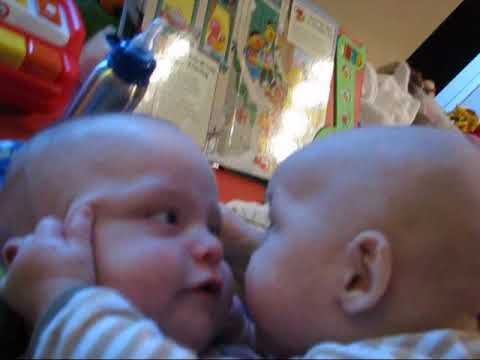 Funny twin baby video