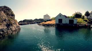 Sailing through the amazing Espevær Island in Norway