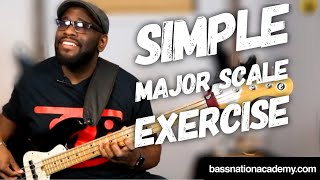 Simple & Effective Major Scale Exercise for Bass Guitar