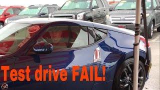 2017 Nissan 370Z test drive accident!