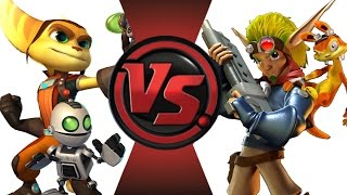 RATCHET and CLANK vs JAK and DAXTER! Cartoon Fight Club Episode 13