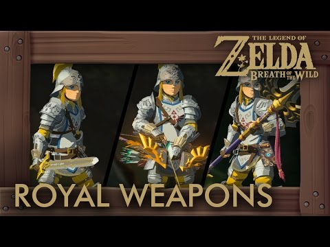 Zelda Breath of the Wild - All Royal Weapons (Complete Set Location)