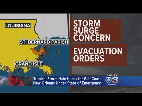 New Orleans Under State Of Emergency As Tropical Storm Nate