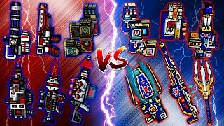 Pixel Gun 3D - Champion Weapons VS Mythical Clan Weapons