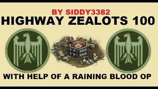 War Commander - Highway Zealots (100) With Raining Blood Op And Deena End Attack.