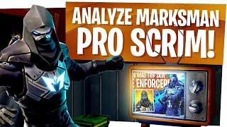 Analyze Marksman in a Solo Fortnite Pro Scrims