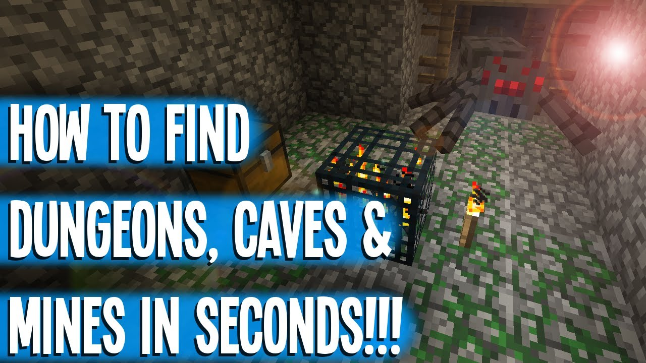 HOW TO FIND DUNGEONS IN SECONDS! - MINECRAFT