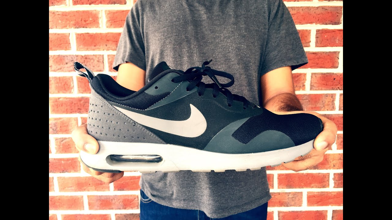 uk nike air max tavas black cool gray anthracite on feet youtube 8da0a ca4c3 6382c87e7