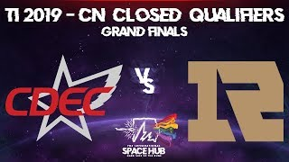 CDEC vs Royal Never Give Up Game 3 - TI9 CN Regional Qualifiers: Grand Finals
