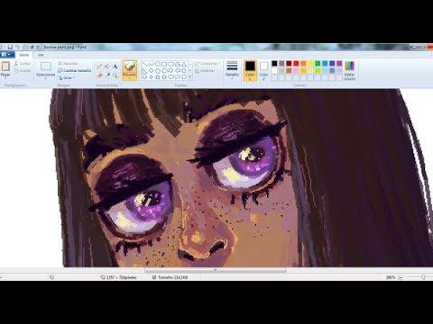 Bonnie (OC) - Drawing On MS Paint  [SPEEDPAINT]