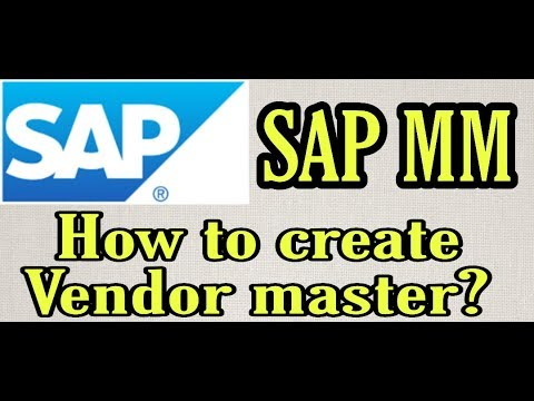 (14)How To Create Vendor Master | SAP MM