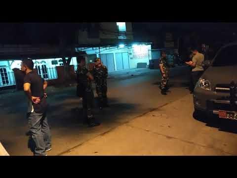 anggota TNI AD dari Kodim Depok sambangi Mako Brimob, Rabu 9/5/18 tengah malam
