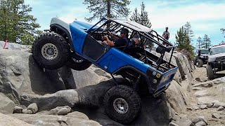 1971 Bronco taking on Soup Bowl on the Rubicon Trail