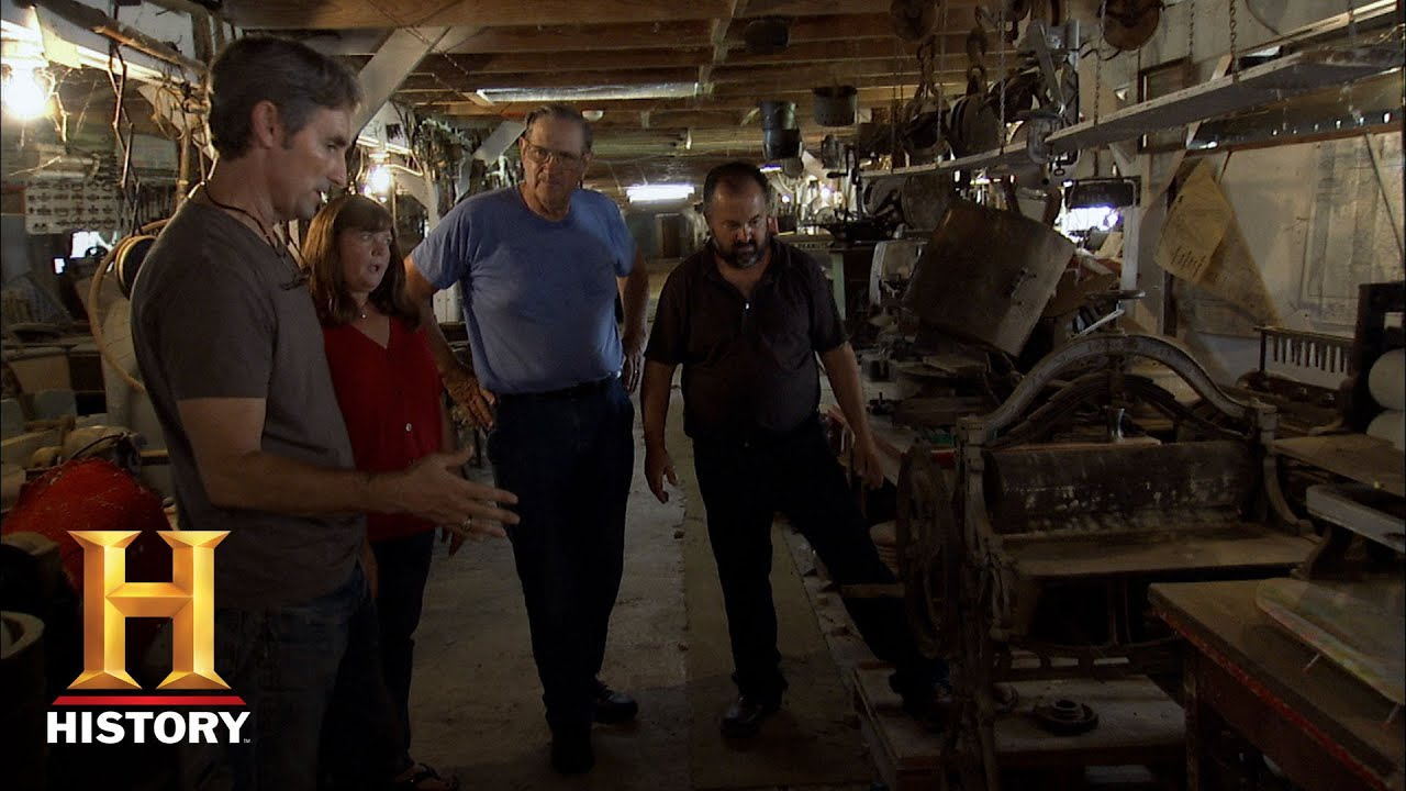 American pickers cast iron mangle press history youtube