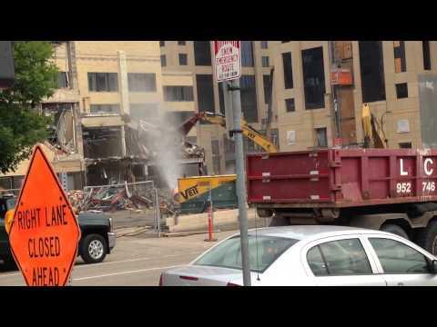 Star Tribune Building Demolition Minneapolis, MN 8/17/15 HD