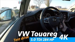 Volkswagen Touareg V6 TDI 2019 - test drive with comments (0-100), city, freeway, open road - 4K