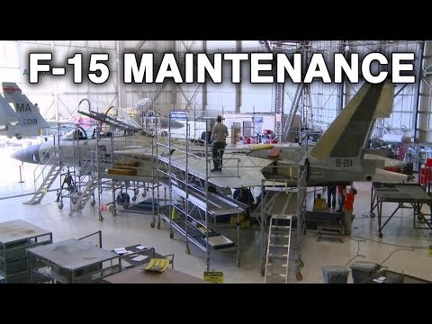 F-15 Under Maintenance at Robins Air Force Base