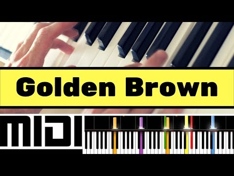 "How to play ""Golden Brown"" by The Stranglers on your Piano ?"