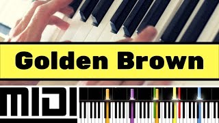 how to play golden brown by the stranglers on your piano