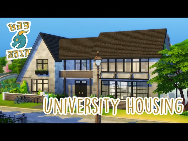 Sims 4 | House Building | Britechester University Housing