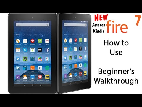 How To Use New Amazon Fire 7 Tablet 4999 Beginners Walkthrough