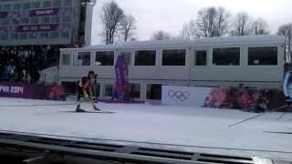 Лыжи финиш Александр Легков Олимпиада Сочи2014