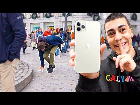 Pegando Un Iphone 11 En El Suelo