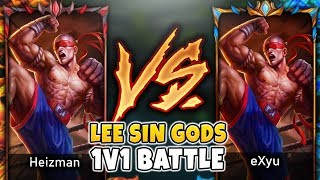 THIS CHALLENGER LEE SIN MAIN CALLED ME OUT FOR A 1v1!! | HEIZMAN VS. EXYU - League of Legends