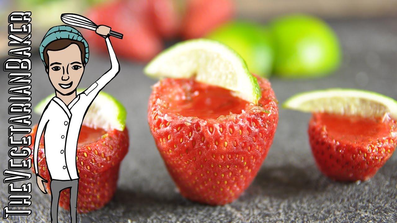 Vegan Strawberry Margarita Jello S S Cinco De Mayo Thevegetarianbaker
