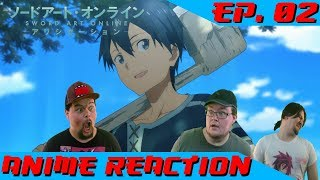 HE'S A LUMBERJACK... AND HE SUCKS AT IT | Anime Reaction: Sword Art Online Alicization Ep. 02