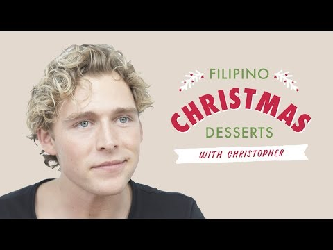 Filipino Christmas Desserts with Danish Pop Star Christopher