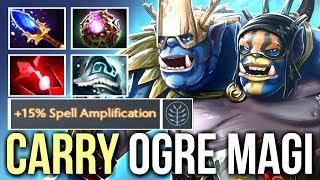 IMBA Ogre Magi Carry! 1265 DMG 3s Stun Fireblast Scepter Fun Gameplay by Black^ Dota 2
