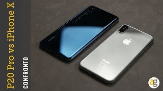 Confronto HUAWEI P20 pro vs APPLE iPhoneX