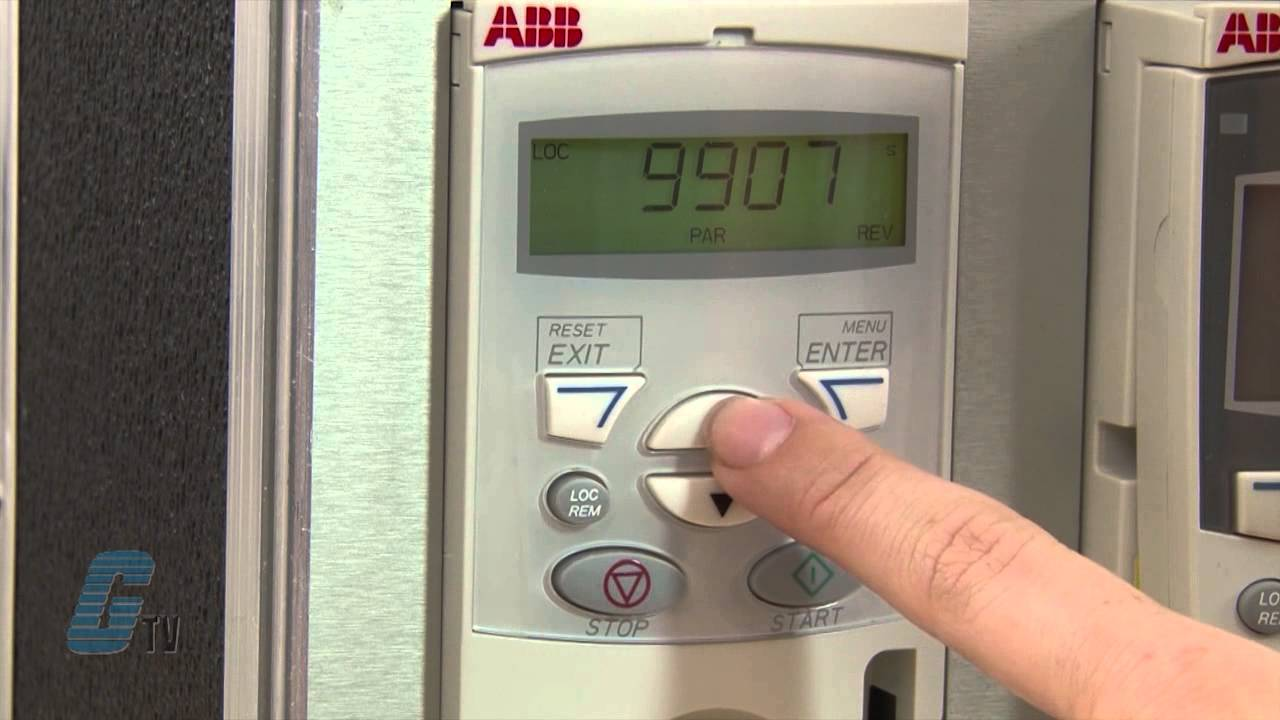 Abb Acs 150 Ac Drive Basic Start Up Amp Operation Demo Youtube