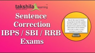Sentence Correction/Bank Exam Preparation Online Classes for IBPS, SBI, RRB- Clerk and PO Exams
