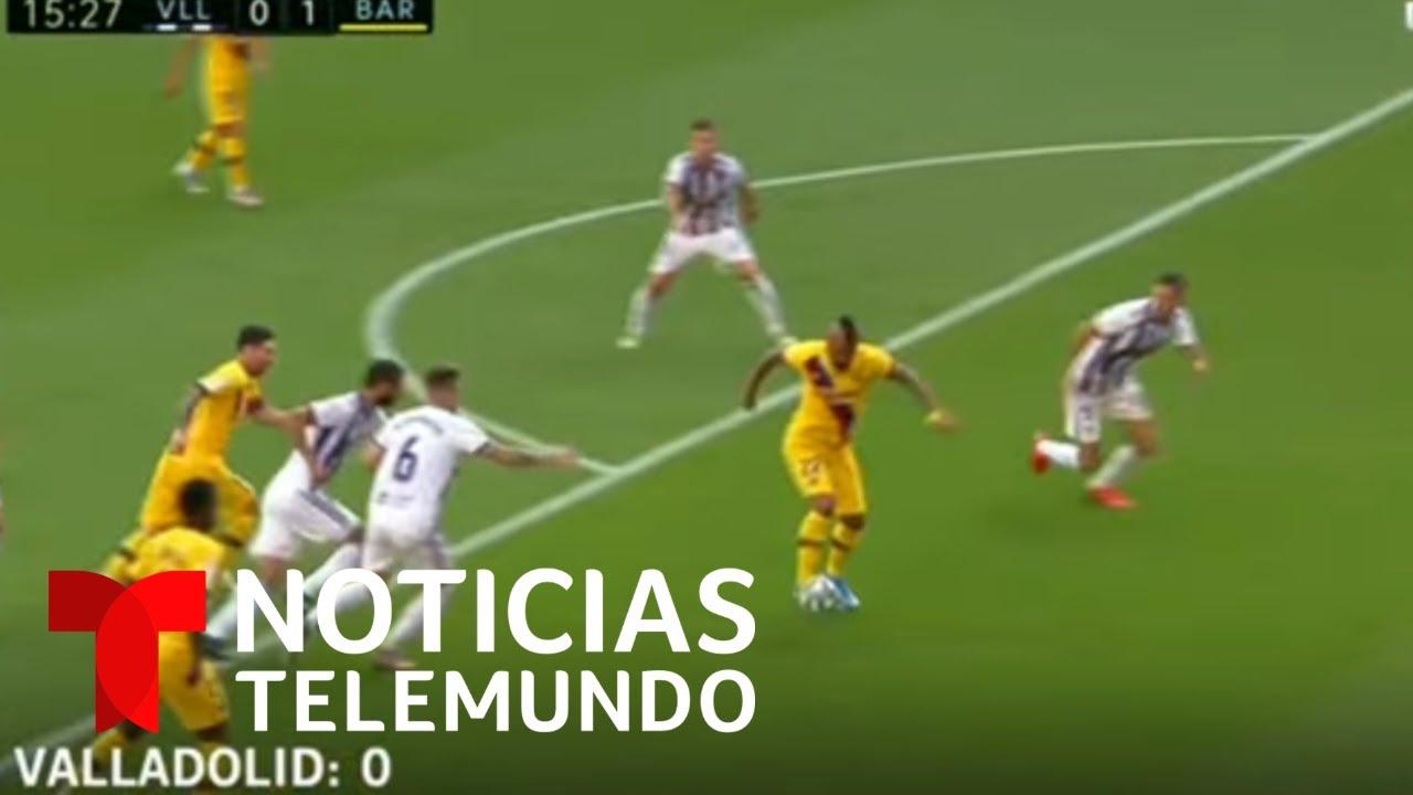 El Barcelona vence al Valladolid y lucha por el título de LaLiga | Noticias Telemundo